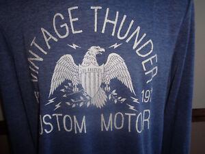 Threadbare Mens Sweatshirt Vintage Thunder Eagle Crew Neck Jumper Top BNWT