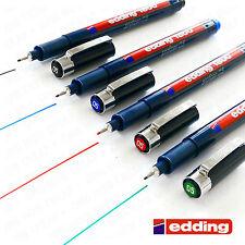 Edding 1800 Profipen Pigment Liner Portamina Dibujo Bolígrafos 0.1mm To 0.7mm