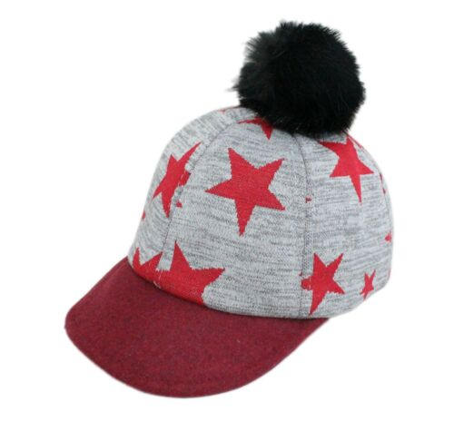 Baby Kids Boys Girls Stars Print Baseball Cap Age 1 2 3 4 Black Grey Blue Red