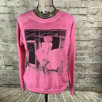 Marilyn Monroe Crewneck Sweatshirt Medium M Pink Pullover #G
