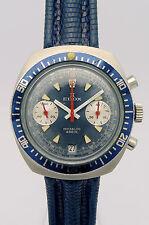 EDOX acero señores chronograph-aprox. 70er años kultuhr en un guay 70ies Design