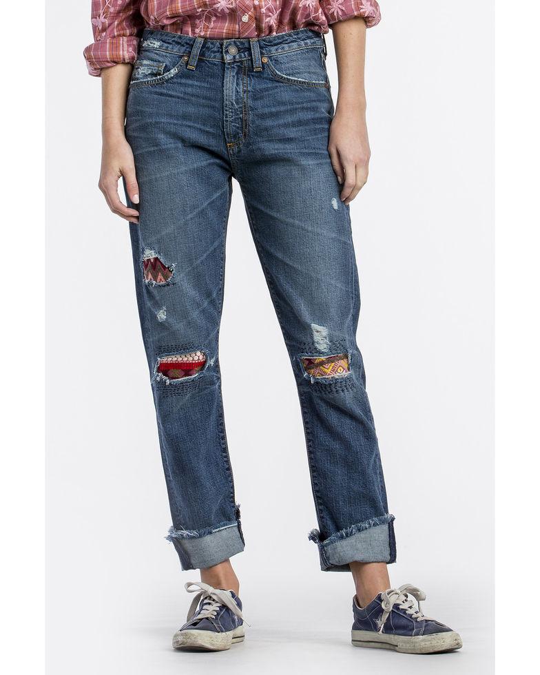 MM Vintage Boyfriend Jeans  Gigi  Crop Patchwork