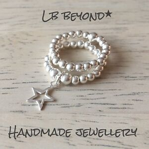925 STERLING SILVER STAR CHARM RING STRETCH /& STACK