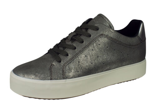 Geox D Blomiee H Womens Fashion Trainers Casual Lace-Up Shoes Chestnut