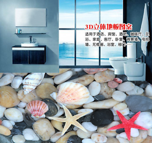 3D Starfish Stone 734 Floor WallPaper Murals Wall Print 5D AJ WALLPAPER UK Lemon