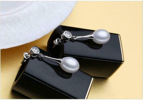 Ohrringe Ohrstecker 925er Sterling Silber mit Süßwasser Perlen AAA Rhodiniert