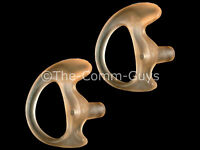 2 Right Small Flesh Covert Gel Earmolds - Tactical Fbi Open Ear Insert Earpiece