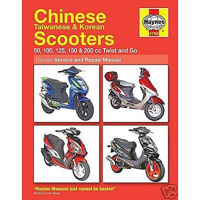 Scooter Manual Haynes Kinroad Scooters XT50 XT50QT & XT125 ... on