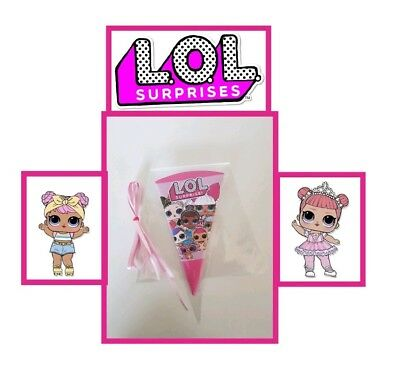 Lol Doll 40 x Pre Filled Sweet Cones Personalised  Lol surprise pink sweets