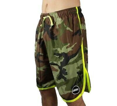 Lab84 Pantaloncini Costume Shorts Mare Sport S8 Shm1002camoufluo Verde Yellow Colori Armoniosi