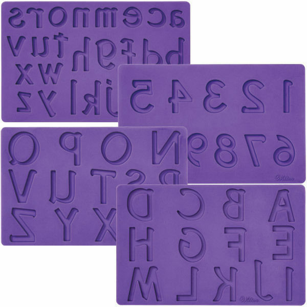 Fondant & Gum Paste Mold ~ Letters & Numbers - Silicone Mould - ALPHABET