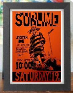 Sublime Live system M Long Beach 80s 90s Poster concert Flyer Framed print