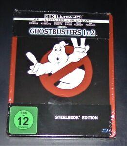 Ghostbusters 1 & 2 4K Ultra HD blu ray + Limitée steelbook Neuf & Ovp