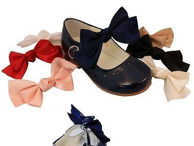 Infantil Niño Chicas Elástico Satén Add on Zapato arcos Colores Surtidos 2 en un paquete