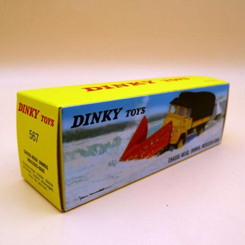 Atlas Dinky 567 CHASSE-NEIGE Unimog Snowplough MERCEDES-BENZ 1//43 Diecast