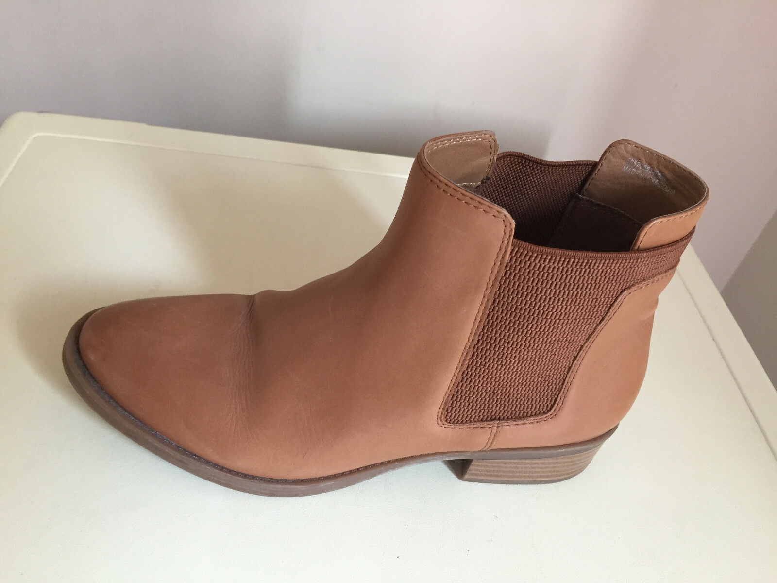 Women TU TAN Leather Ankle  Boots Size 7