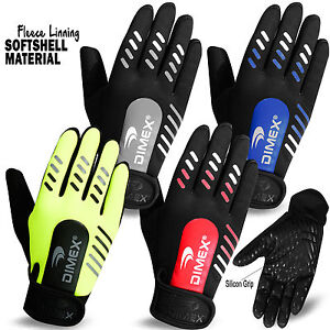 Cycling-Gloves-Full-Finger-Soft-Shell-with-Fleece-Linning-MTB-Bike-Silicon-Grip