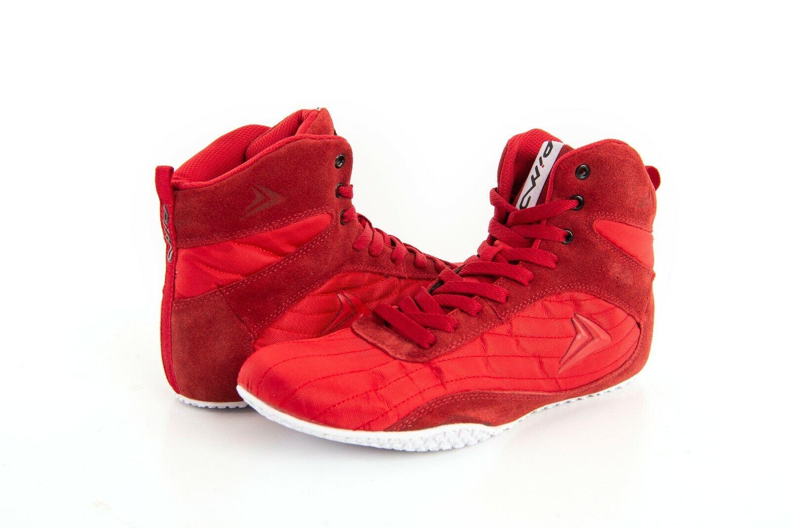 PIMD rouge X-Core V2 Pour des hommes HIGH TOP GYM chaussures bottes WEIGHT LIFTING MUSCLE nouveau