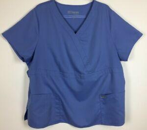 Grey-039-s-Anatomy-Scrub-Top-Size-3XL-Ceil-Blue-4153X-Nursing-Medical-Uniform
