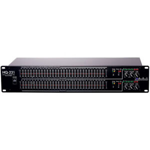ART-Pro-Audio-HQ231-Dual-Channel-31-Band-Graphic-Equalizer-EQUALIZZATORE-di-rilevamento-del-Feedback