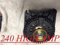 Ford Mustang V8 4.6l Dohc 1996-2000 Black Hd Alternator High Output 240 Amp