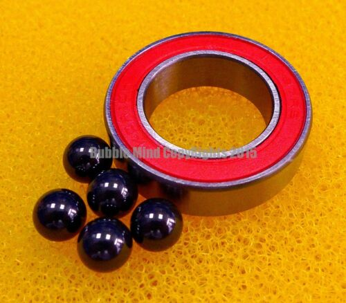 17x28x7 mm 10PCS 17287-2RS Hybrid Ceramic Si3N4 Rubber Sealed Bearing Bearings