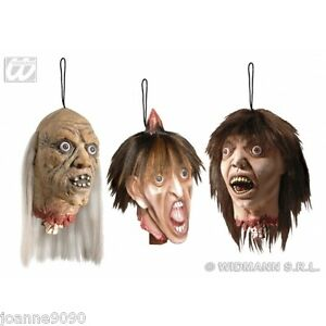 Decapitated halloween horror full size hanging head prop party severed