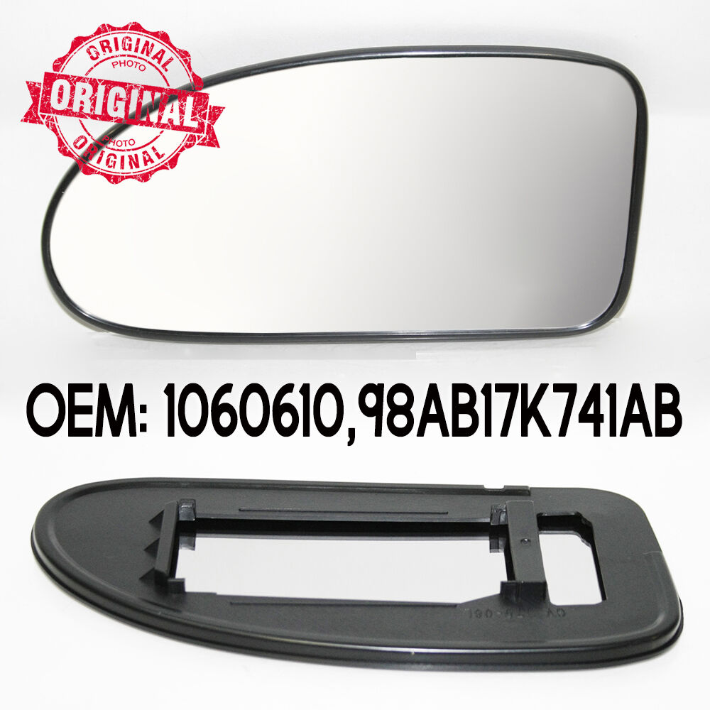 Lhs Wing Mirror Glass Clip On Silver For Ford Focus 98 04 Door Handle Diagram Replacement