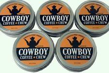 5 Cans Cowboy Chew Herbal snuff 1.4 oz moist tobacco free Brand Smokey Mountain
