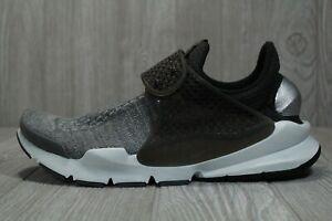 63 New Nike Sock Dart SE Black Grey Premium Running Shoes Mens 10 859553-002
