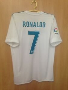 734af87c24b23 REAL MADRID 2017 2018 HOME FOOTBALL SHIRT JERSEY CAMISETA CRISTIANO ...