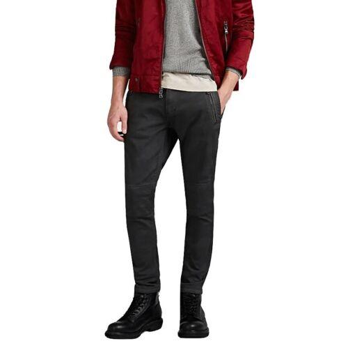 John Varvatos Star USA Men/'s Zip Work Pant Utility Zip Pockets Medium Grey