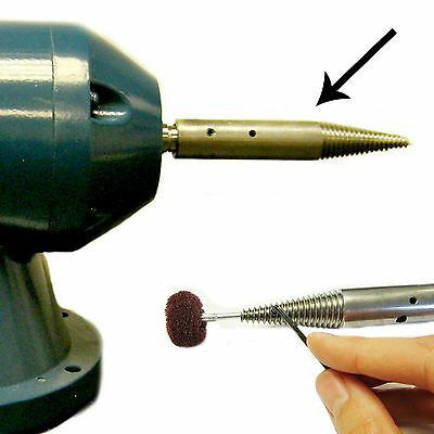 16mm Special Taper Pigtail for Adapting a Bench Grinder to Polisher - End Hole