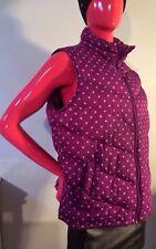 Lands End Down Vest Purple w/Lilac Polka dots Size: XL(18) Cute & Warm Likenew