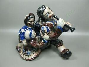 Vintage-Antique-Pied-Piper-of-Hamelin-11-034-Pottery-Sculpture-Figurine-Germany-NR
