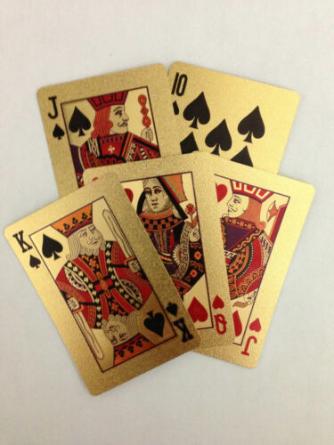 Bridge Size Trademark Poker 24k Gold Playing Cards Regular Index New Model