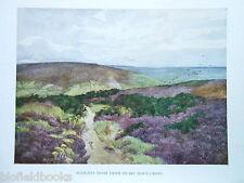 Yorkshire 1925 Antiquarian Gordon Home Print-Sleights Moor from Swart Houe Cross
