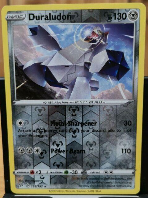 Pokemon Duraludon - Rebel Clash 138/192 Rev. Holo Rare *