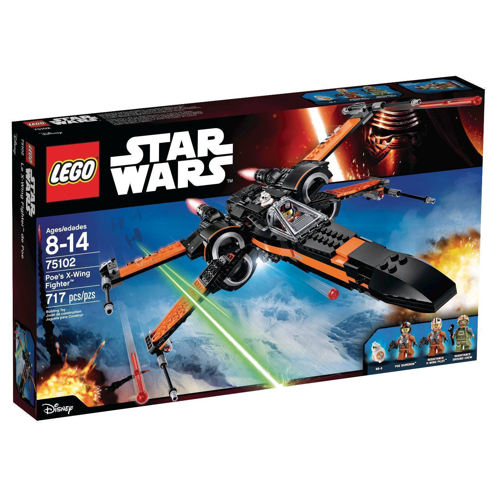 75102 POE'S X-WING FIGHTER lego set NEW star wars legos FORCE AWAKENS bb-8