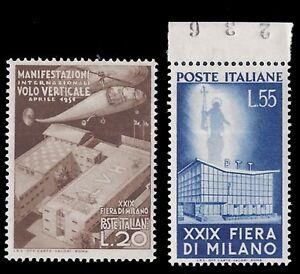 REPUBBLICA-ITALIANA-1951-FIERA-MILANO-n-657-658-INTEGRI-LUSSO-187-50
