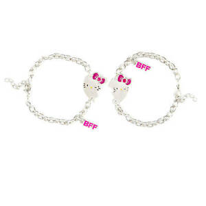 Image Is Loading O Kitty Bff Charm Bracelets Best Friends Heart