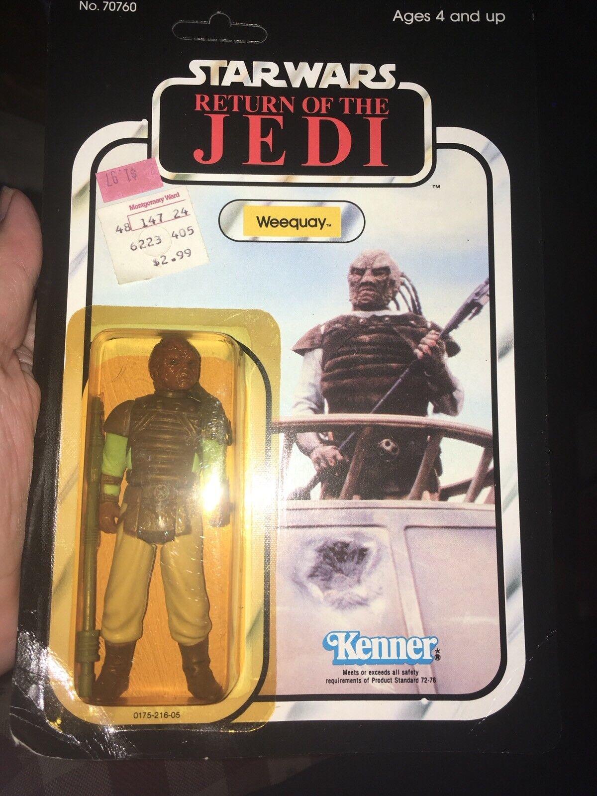 para proporcionarle una compra en línea agradable Estrella wars regreso del del del Jedi Vintage Weequay Regreso del Jedi menta en tarjeta 1983 77 Como Nuevo  autentico en linea