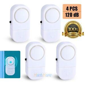 4x-Wireless-Window-Door-Entry-Security-Burglar-120dB-Alarm-Chime-Magnetic-Sensor