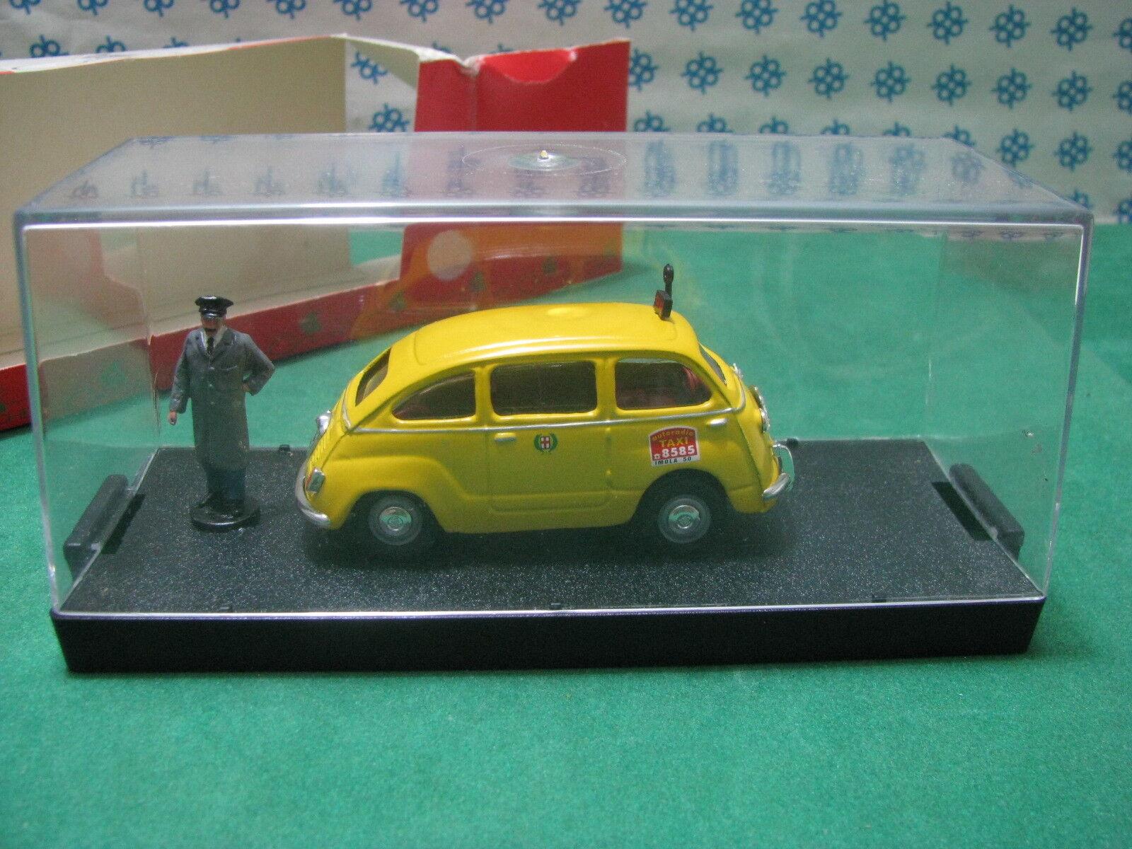 Vintage - FIAT 600 D Multipla Taxi Taxi Taxi con conductor de Taxi - 1 43 Giocher fa6ed2