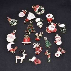 20Pcs-Enamel-Alloy-Mixed-Christmas-Charms-Pendant-Jewelry-Decor-DIY-Craft-Making