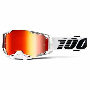 100% ARMEGA GOGGLES LIGHTSABER RED MIRROR LENS MOTOCROSS ENDURO MX PERCENT NEW
