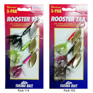 Wordens-Rooster-Tail-Fishing-Spinners-Assorted-3-Pack-3-Sizes-3-5g-5g-amp-7gm