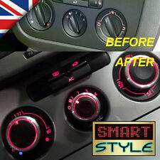 SmartStyle Aluminium Heater Knobs Buttons-VW Golf/Jetta/Passat/Caddy/Scirocco…