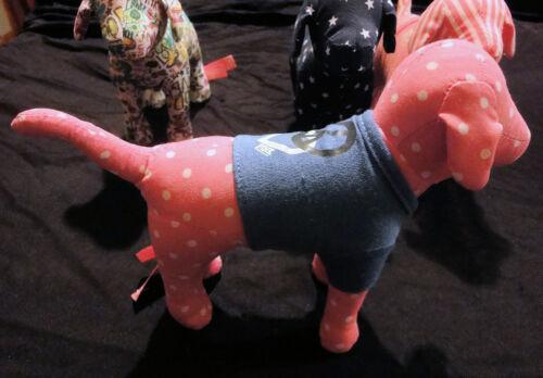 Victoria Secret PINK Stuffed Dog Collectibles Graffiti Stars Polka Dots Stripes