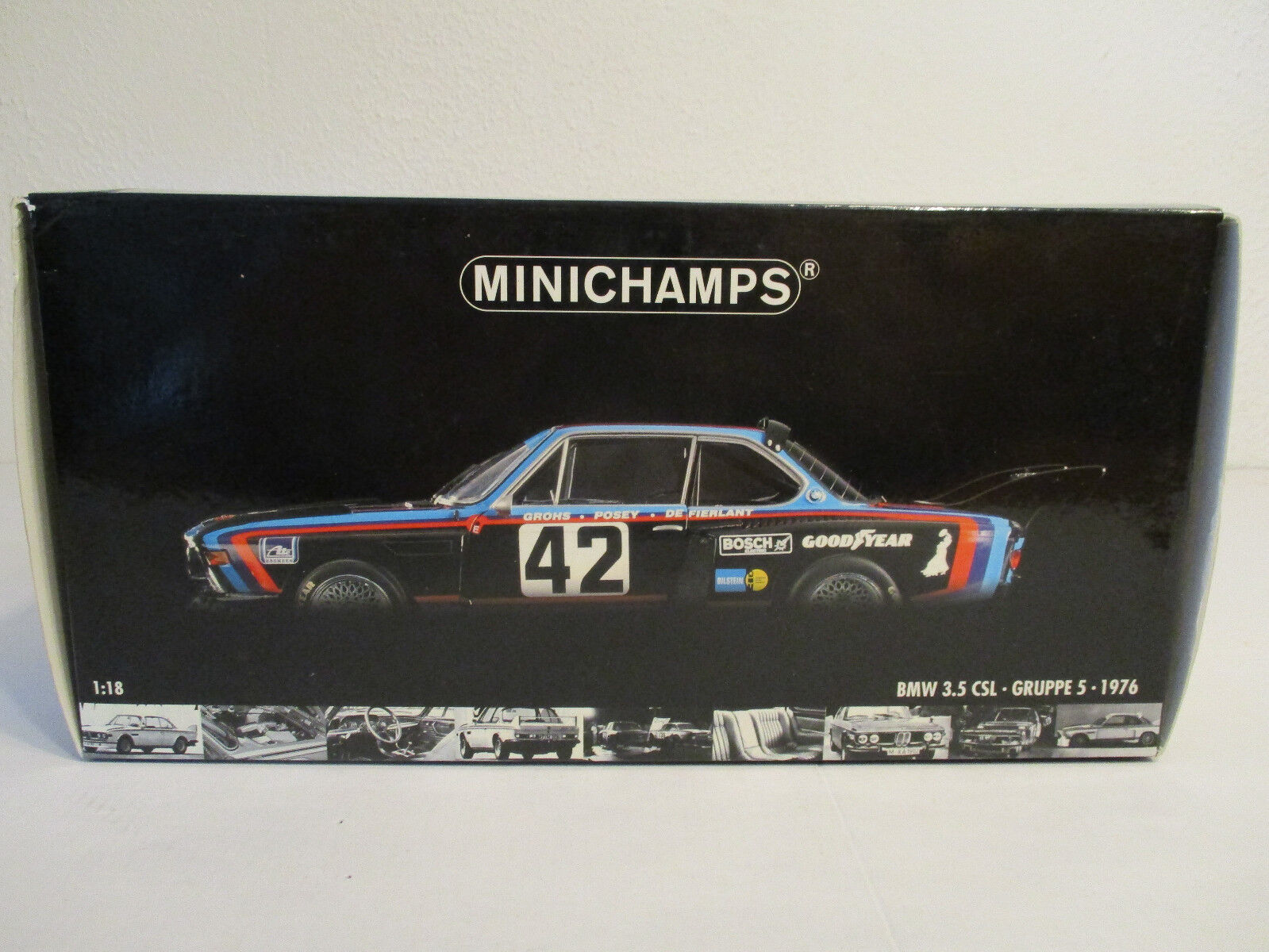 ( GOL ) 1 18 Minichamps BMW 3.5 CSL 24h Le Mans 1976  NEU OVP